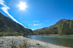 Kamikochi One of the most beautiful place in Japan Royalty Free Stock Photography
