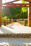 Kamikochi Opposite Bank Kappa-Bashi Bridge Deck V Stock Photography