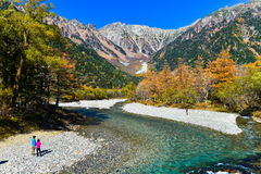 Kamikochi pendant l'automne Photos stock