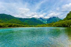 Free Kamikochi Taisho Pond Mount Hotaka Dake H Royalty Free Stock Image - 81080096