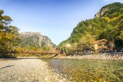 Kamikochi uno di posto più bello nel Giappone Fotografia Stock Libera da Diritti