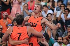 Kamil Rduch - basket 3x3 Royaltyfri Bild