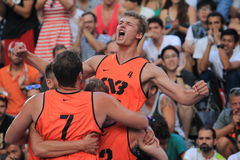 Kamil Rduch - basquetebol 3x3 Imagem de Stock Royalty Free