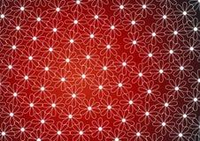 Kamille op rode achtergrond. Vector art. stock illustratie