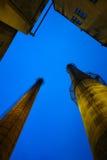 Kamin in der Fabrik Stockbilder