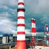 Kamin des Kraftwerks Lizenzfreie Stockbilder