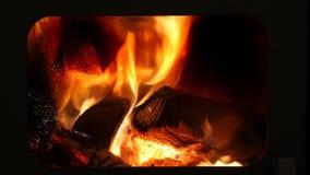 Kamin Fire Window stock video footage