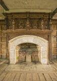 Kamin, Solar, Stokesay-Schloss, Shropshire, England Lizenzfreie Stockbilder