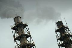 Kamin und Rauch Lizenzfreie Stockfotografie