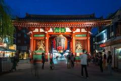 Kaminarimon brama Asakusa Kannon świątynia w Tokio, Japonia Fotografia Stock