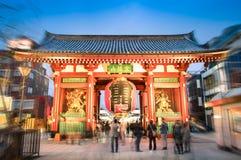 Kaminarimon gate in Tokyo at temple of Senso-Ji in Asakusa Royalty Free Stock Photos