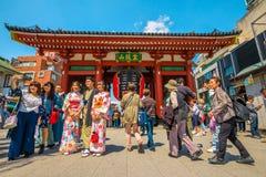 Kaminarimon Senso-ji Tokyo Stock Photography