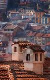 Kamine und Häuser Lizenzfreies Stockbild