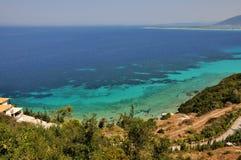 kaminia lefkada Греции пляжа Стоковые Изображения