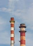 Kaminstapel mit Dampf Lizenzfreies Stockbild