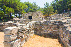 Kamiros, Ancient ruins, Rhodes Royalty Free Stock Photos
