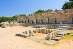 Kamiros, Ancient ruins in Rhodes Stock Photography