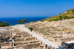 Kamiros antique Rhodes Photographie stock libre de droits