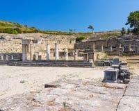 Kamiros antique Rhodes Images libres de droits