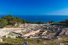 Kamiros, Rhodes. Ancient City of Kamiros, Rhodes, Greece Royalty Free Stock Photography