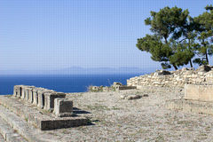 Kamiros. Ruins of ancient city Kamiros, archeological site on the west coast of island of Rhodes, Greece stock images