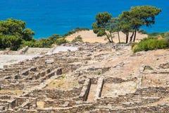 Kamiros ruins. Rhodes, Greece Stock Photos