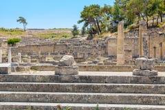 Kamiros ruins. Rhodes, Greece Royalty Free Stock Photography