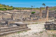 Kamiros ruins. Rhodes, Greece Royalty Free Stock Photos