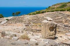Kamiros ruins. Rhodes, Greece Royalty Free Stock Images