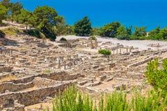 Kamiros ruins. Rhodes, Greece. Archeological site of ancient Kamiros. Rhodes, Greece Stock Images
