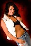 - kamizelka brunetki Obraz Royalty Free