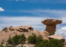 Kamlet vaggar monumentet Santa Fe New Mexico royaltyfria foton