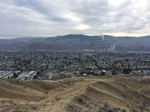 Kamloops city hike. Beautiful city view Stock Photography