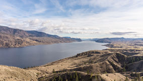 Kamloops Lake. View of Kamloops Lake in British Columbia, Canada. The lake is a wide sectio of the Thompson River just outside the city of Kamloops Royalty Free Stock Photos