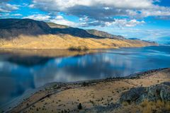 Kamloops Lake View Point. Train om the front royalty free stock photography