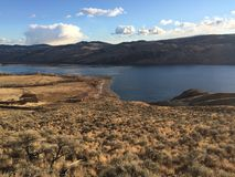 Kamloops scenery. Hikes in the desert around Kamloops Stock Photography