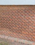 Kamm-Muschel-geformte Ziegelsteine Lizenzfreie Stockfotografie