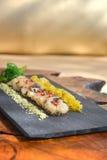 Kamm-Muscheln mit Mango- und Zitronengras Lizenzfreies Stockbild