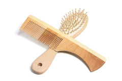 Kamm und Hairbrush stockfotos