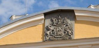 Kamm von Rundale-Palast, Lettland stockbild