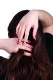 Kamma med fingrar Fotografering för Bildbyråer