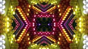 Kammare av den mångfärgade öglan för ljusa kulor för jaga lager videofilmer