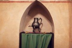 Kammare i det mest stora gotiska slottet i Europa - Malbork Royaltyfria Bilder
