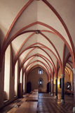 Kammare i det mest stora gotiska slottet i Europa - Malbork Royaltyfria Foton