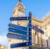 Kammarherre Square Birmingham för teckenstolpe Arkivfoton