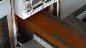 Kammeröfen für Stahl stock video footage