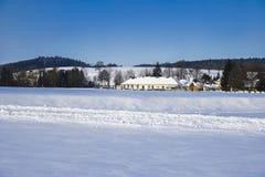 Kammerhof w zimie Obrazy Royalty Free