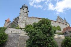 Kammgarn-stoff Schloss, Deutschland Stockfotos