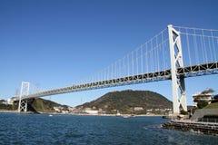 Kammon海峡桥梁 库存照片