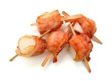 Kammosselen die in bacon worden verpakt Royalty-vrije Stock Foto